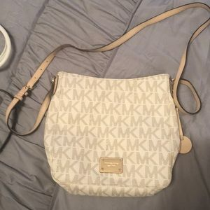 A Michael Kors Large Logo Messenger Crossbody Bag